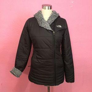 The NorthFace coat.  Reversible